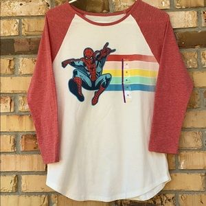 Girls Spider-Man Marvel Raglan Tee
